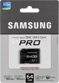 Samsung SDXC Card Pro 64GB Class 10 / MB-SGCGB/EU