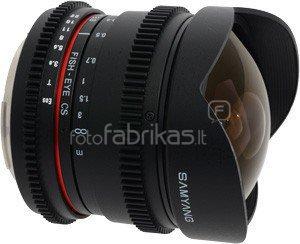 Samyang 8mm T3.8 VDSLR II, Sony E