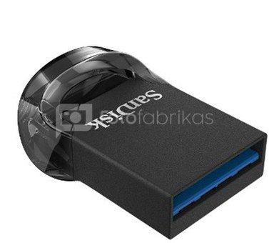 SanDisk 128GB Ultra Fit™ USB 3.1 - Small Form Factor Plug & Stay Hi-Speed USB Drive Sandisk Ultra Fit™ USB 3.1 - Small Form Factor Plug and Stay Hi-Speed USB Drive 128 GB, USB 3.1, Black