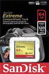 SanDisk Extreme CF 64GB 120MB/s SDCFXS-064G-X46