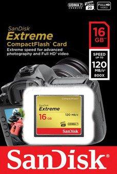 SanDisk Extreme CF 16GB 120MB/s SDCFXS-016G-X46