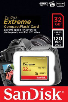 SanDisk Extreme CF 32GB 120MB/s UDMA7 SDCFXSB-032G-G46