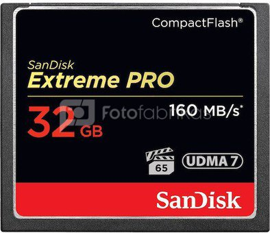 SanDisk Extreme Pro CF 32GB 160MB/s SDCFXPS-032G-X46