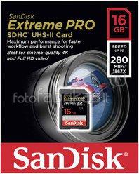 SanDisk Extreme PRO SDHC 16GB 280MB/s UHS-II SDSDXPB-016G-G46