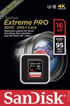 SanDisk Extreme Pro SDHC 16GB 95MB/s SDSDXPA-016G-X46