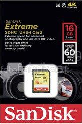 SanDisk Extreme SDHC Video 16GB 60MB/s UHS-I SDSDXN-016G-G46