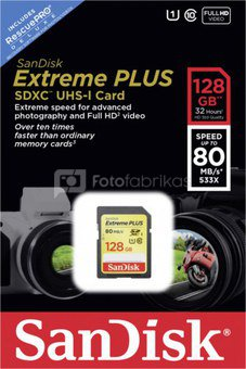 SanDisk Extreme SDXC 128GB 80MB/s. UHS 1 SDSDXS-128G-X46