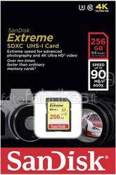 SanDisk Extreme SDXC Video 256GB 90MB/s UHS-I SDSDXNF-256G-GNCIN