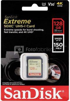 SanDisk memory card SDXC 128GB Extreme Video V30 U3