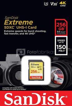 SanDisk memory card SDXC 256GB Extreme Video V30 U3