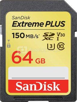 SanDisk memory card SDXC 64GB Extreme Plus V30 U3