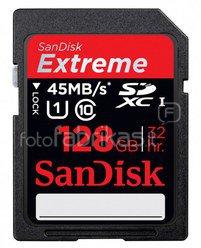 SanDisk Extreme SDXC Video 128GB 45MB/s UHS-I SDSDX-128G-X46
