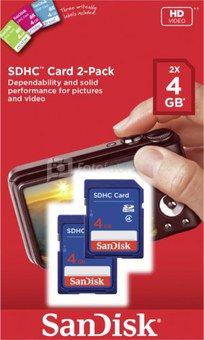 SanDisk SDHC Card 2-Pack 4GB SDSDB2-004G-B35