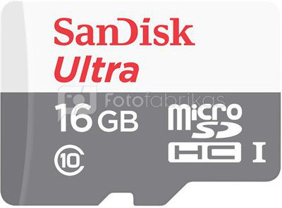 Sandisk Ultra Android 80MB/s 16 GB, MicroSDHC, Flash memory class 10