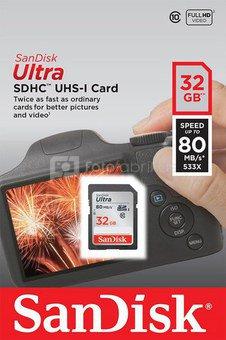 SanDisk Ultra SDHC UHS-I 32GB 80MB/s Cl. 10 SDSDUNC-032G-GN6IN