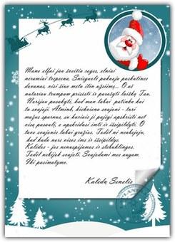 """Kalėdų Senelio laiškas """"Vakaras"""""""