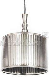 Šviestuvas pakabinamas 8.5x16 cm 30321, gaubtas 23x23 cm 3906023 sidabro spalvos