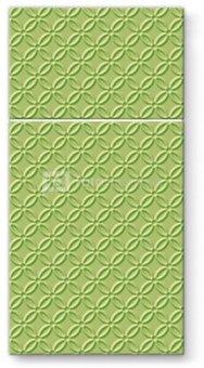 Servetėlės popierinės su kišenėle žalios sp. 40x40cm 125309