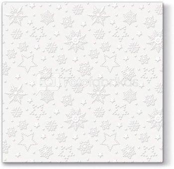 Servetėlės popierinės su snaigučių piešiniu 33 x 33 cm 107508 KLD