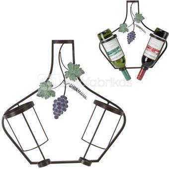 Sienos dekoracija Vyno butelių laikiklis H:38 W:37 D:10 cm MWA839