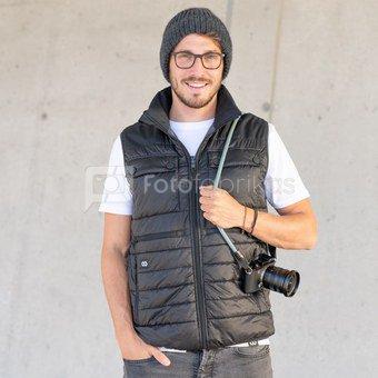 Šildoma fotografo liemenė - Black Anthracite L