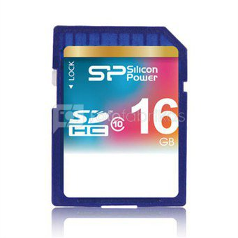 SILICON POWER 16GB, SDHC SECURE DIGITAL CARD, CLASS 10