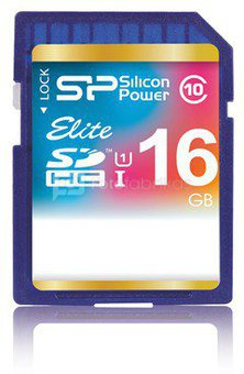 SILICON POWER 16GB, SDHC UHS-I, Class 10, 40 MB/s reading, 15 MB/s writing