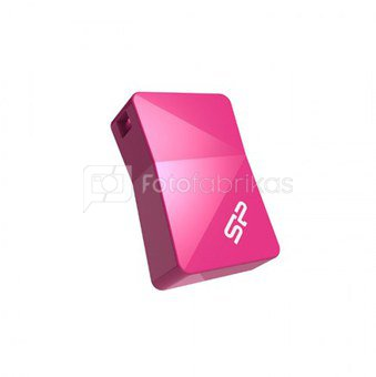 SILICON POWER 16GB, USB 2.0 FLASH DRIVE, TOUCH T08, PINK