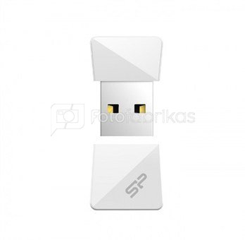 SILICON POWER 16GB, USB 2.0 FLASH DRIVE, TOUCH T08, White