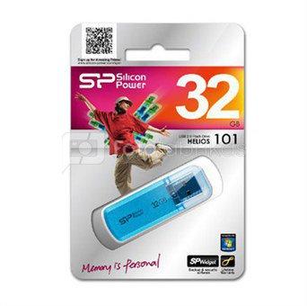 SILICON POWER 32GB, USB 2.0 FLASH DRIVE HELIOS 101, BLUE