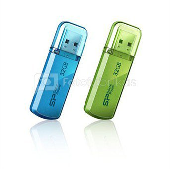 SILICON POWER 32GB, USB 2.0 FLASH DRIVE HELIOS 101, GREEN