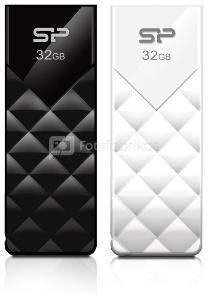 SILICON POWER 32GB, USB 2.0 FLASH DRIVE ULTIMA U03, WHITE