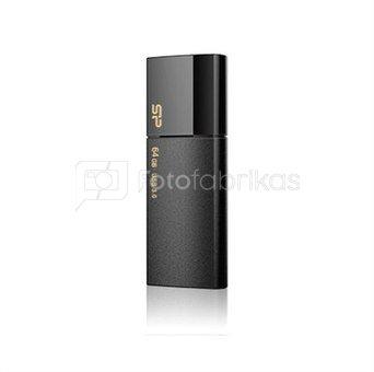 SILICON POWER 64GB, USB 3.0 FlASH DRIVE, BLAZE SERIES B05, BLACK