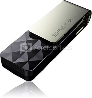 SILICON POWER 64GB, USB 3.0 FLASH DRIVE, BLAZE SERIES B30, BLACK