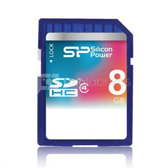 SILICON POWER 8GB, SDHC SECURE DIGITAL CARD, CLASS 4