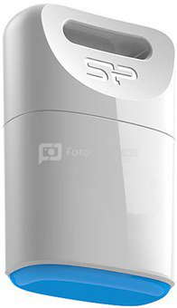 SILICON POWER 8GB, USB 2.0 FLASH DRIVE TOUCH T06, WHITE