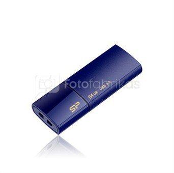 SILICON POWER 8GB, USB 3.0 FlASH DRIVE, BLAZE SERIES B05, DEEP BLUE