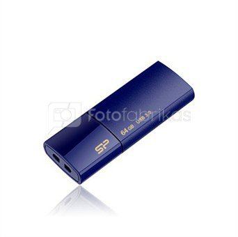 SILICON POWER 8GB, USB 3.0 FlASH DRIVE, BLAZE SERIES B05, DEEP BLUE