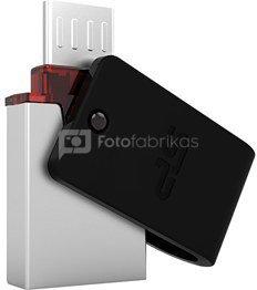 SILICON POWER 8GB, USB 3.0 FLASH DRIVE, MOBILE X31, BLACK