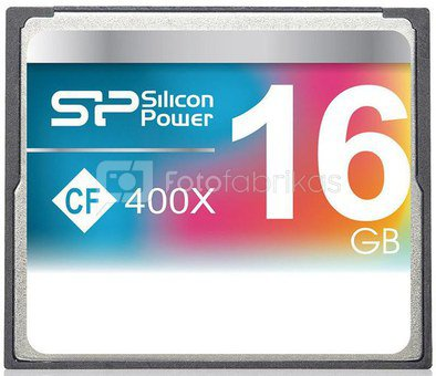 Silicon Power memory card CF 16GB 400x
