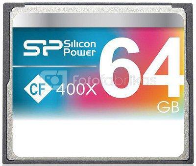 Silicon Power memory card CF 64GB 400x