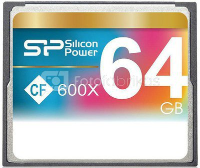 Silicon Power memory card CF 64GB 600x