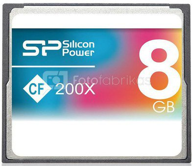 Silicon Power memory card CF 8GB 200x