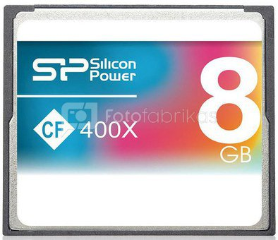 Silicon Power memory card CF 8GB 400x