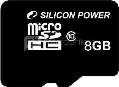 Silicon Power memory card microSDHC 8GB Class 10