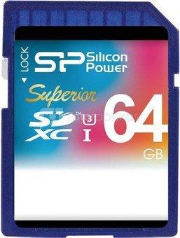 Silicon Power memory card SDXC 64GB Superior UHS-I U3