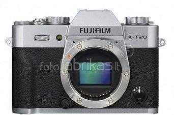 FujiFilm X-T20 body (Sidabrinis)