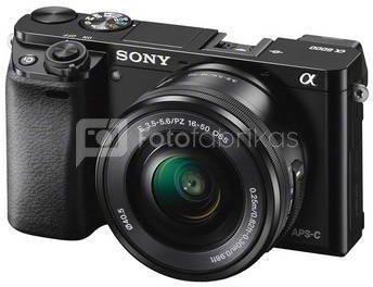Sony Alpha a6000 + 16-50 mm (Juodas)