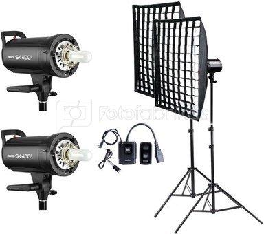 Godox SK400ll Complete Flash kit