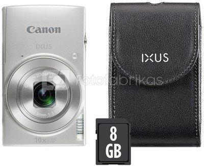 Canon IXUS 190 Essential Kit (sidabrinis)